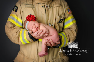 Firefighter Newborn Photographer