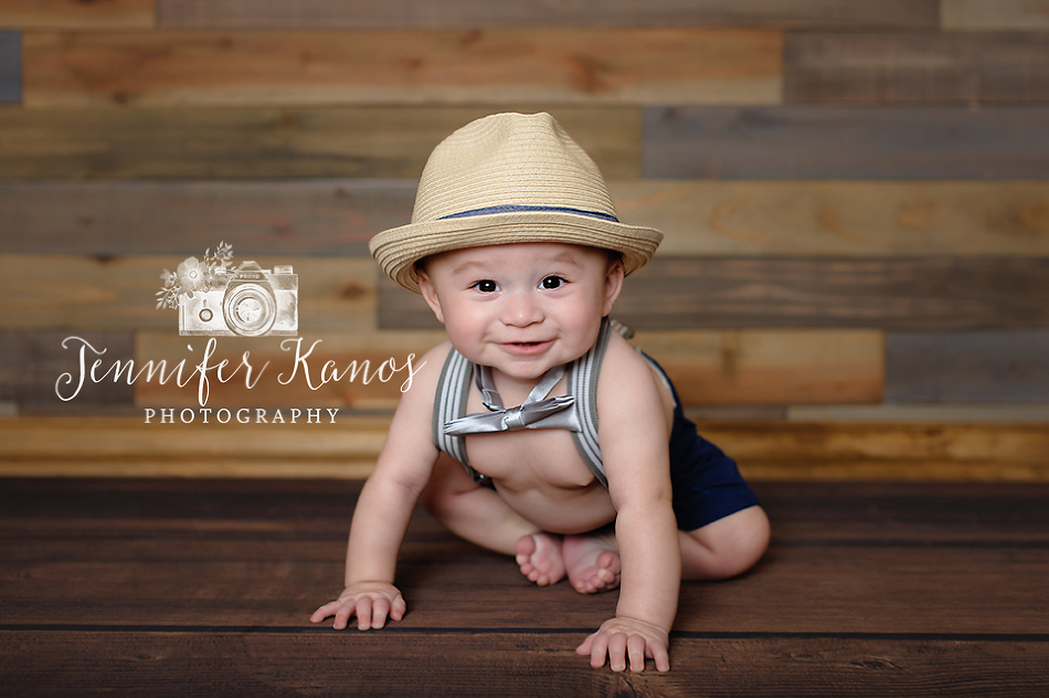 6 month photo session for baby in Rancho Cucamonga